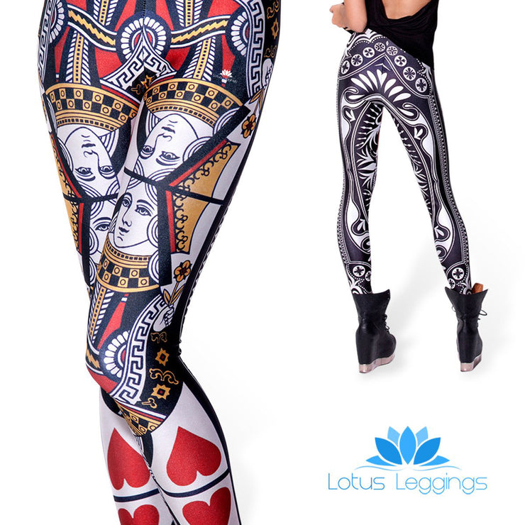 QUEEN OF HEARTS LEGGINGS