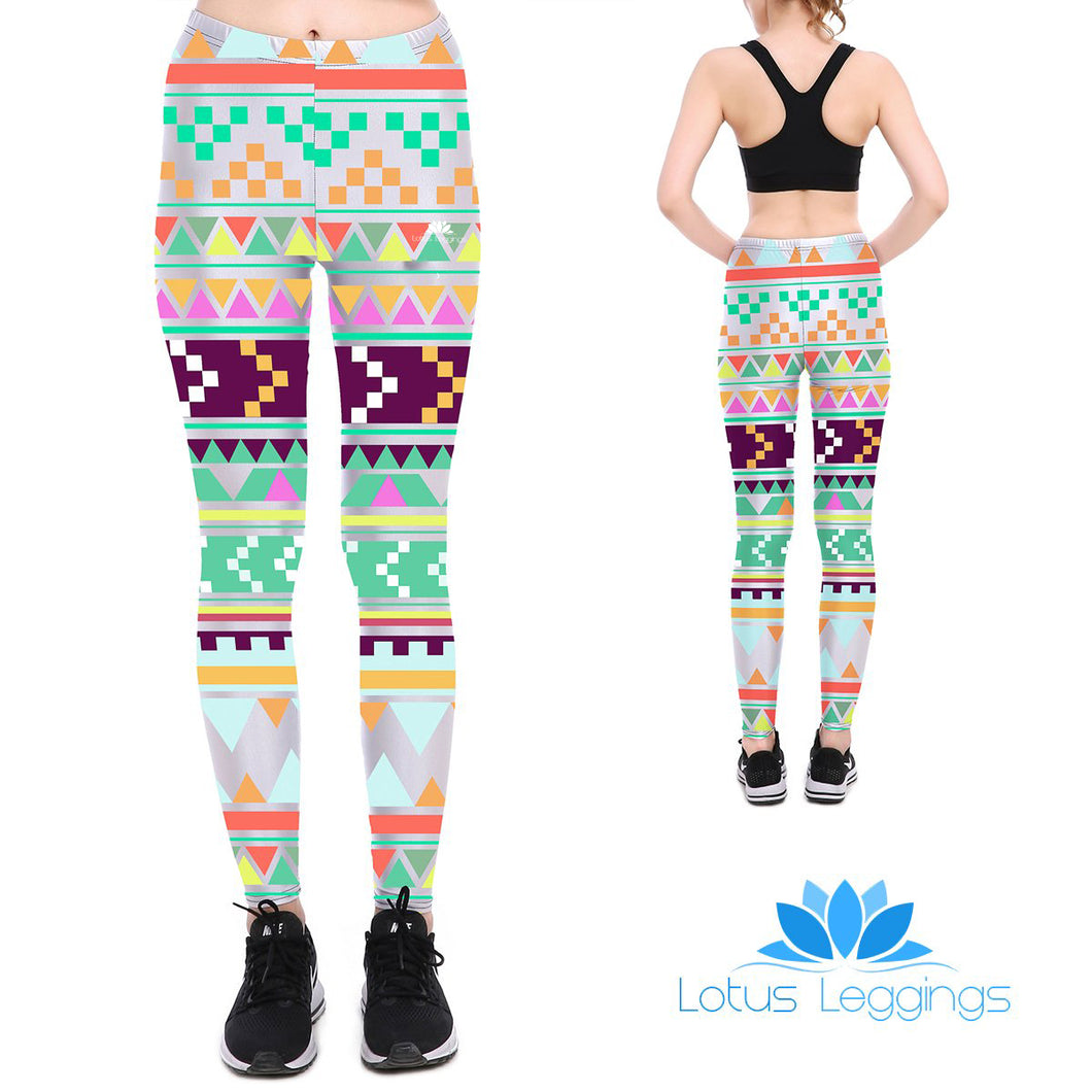 Tribal Tetris Leggings