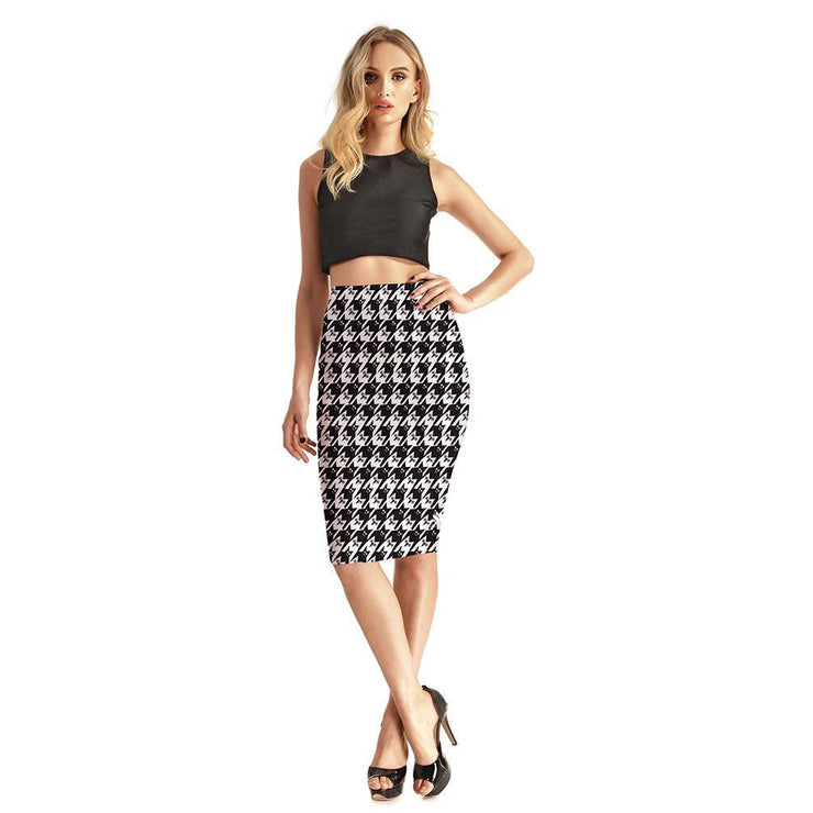 Creatures Of The Night Pencil Skirt