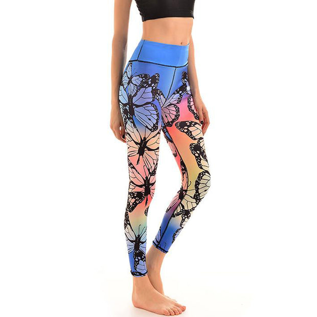 LotusX™ Rainbow Butterfly Leggings