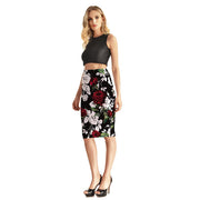 Enchanted Roses Pencil Skirt