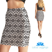 Elegant Wallpaper Bodycon Skirt