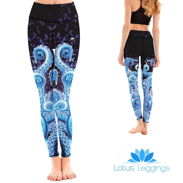 LotusX™ Blue Octopus Leggings