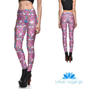 Pink Space Unicorn Leggings