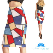 Patched Together Pencil Skirt