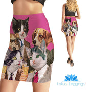 Wallstreet Pets Bodycon Skirt