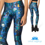 SKULLS AND CROSSES LEGGINGS