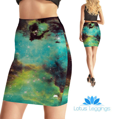 Earthy Galaxy Bodycon Skirt