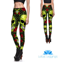 Skulls and Roses Leggings