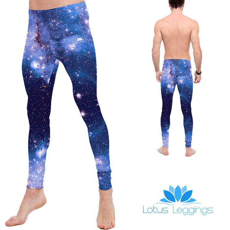 Blue Extragalactic Nebula Leggings
