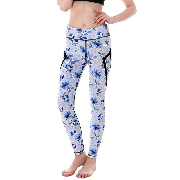 Blue Petals MaxPerformance Leggings