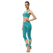 Teal Tie-Up Leggings