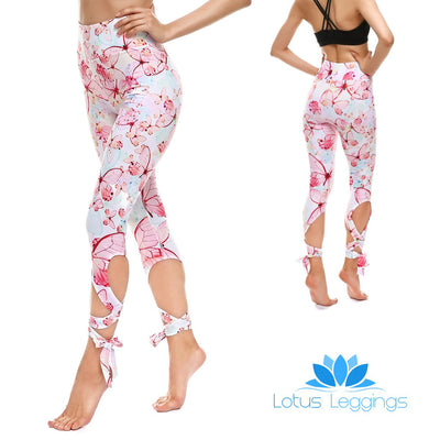 10e380f05 Soft Butterfly Tie-Up Leggings
