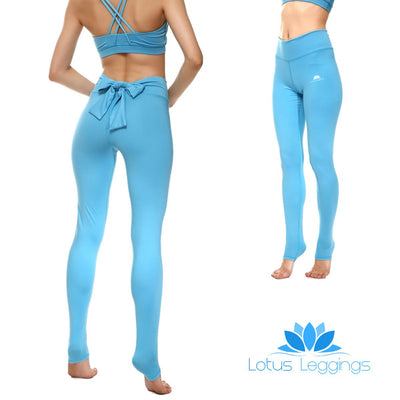 Baby Blue Bow Leggings