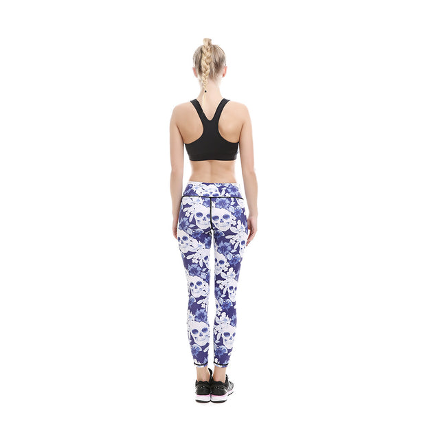 Floral Skulls MeshX Leggings - Lotus Leggings