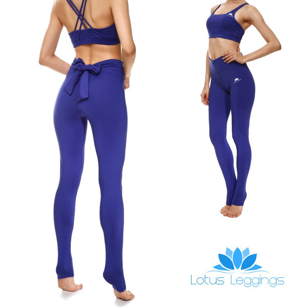 Bold Blue Bow Leggings