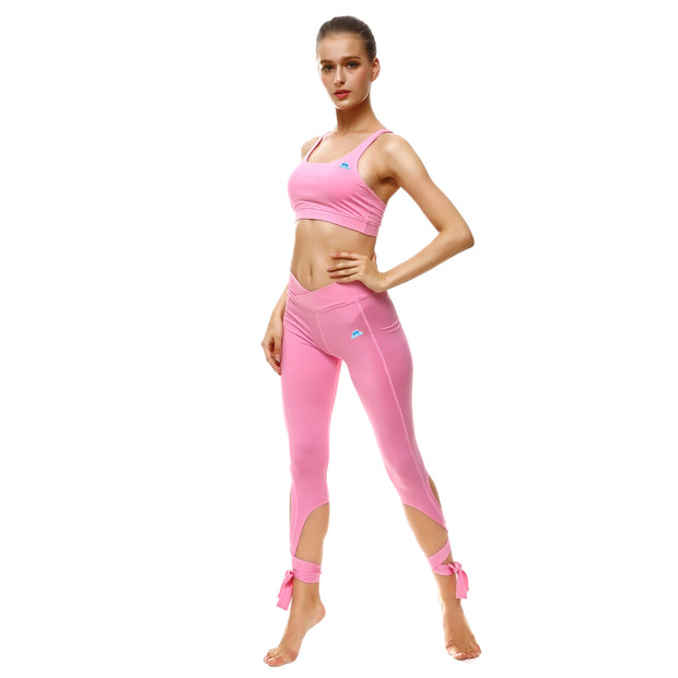 Pretty in Pink Tie-Up Leggings - Lotus Leggings