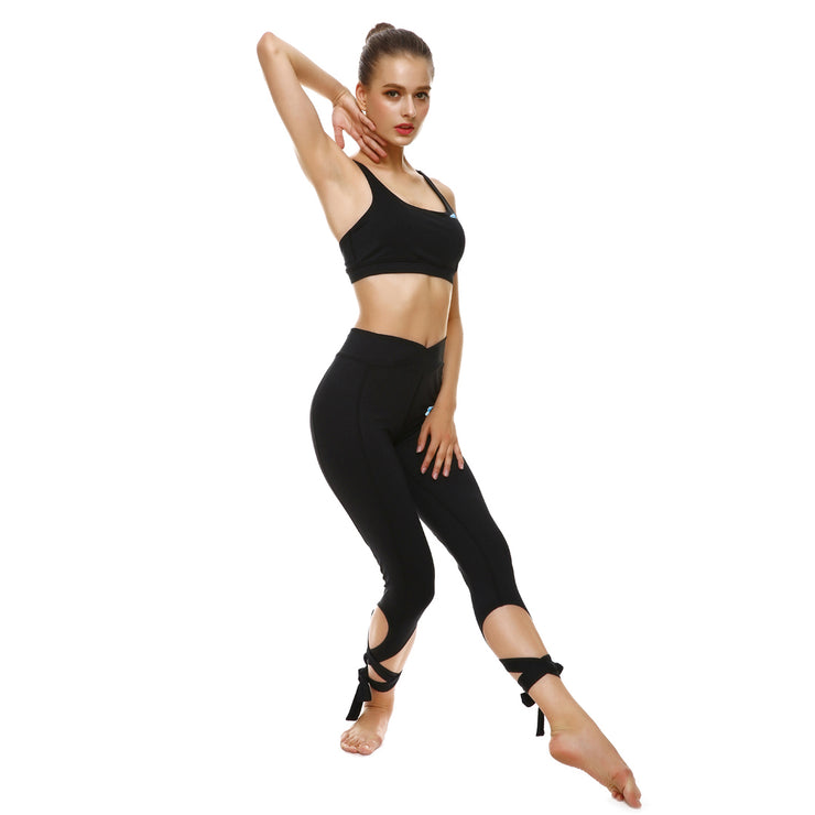 Blackout Tie-Up Sports Set - Lotus Leggings