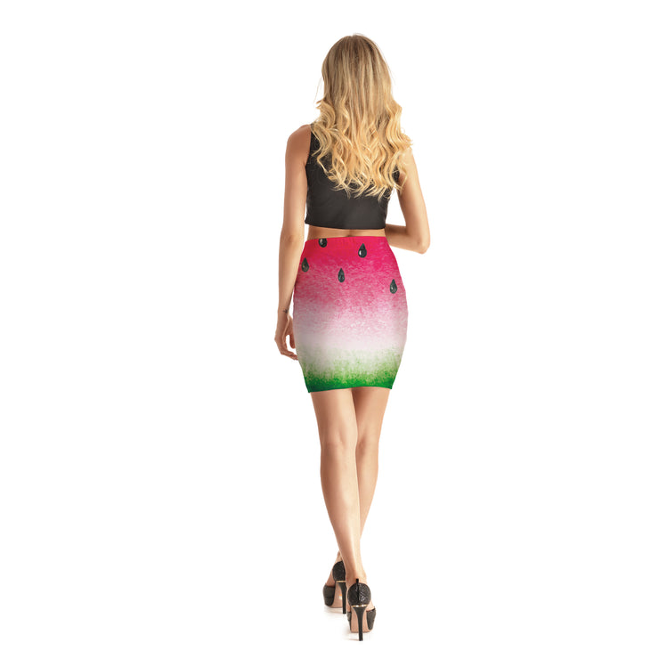 Watermelon Bodycon Skirt - Lotus Leggings