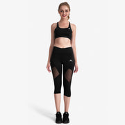 Total Blackout Capri Mesh Leggings - Lotus Leggings