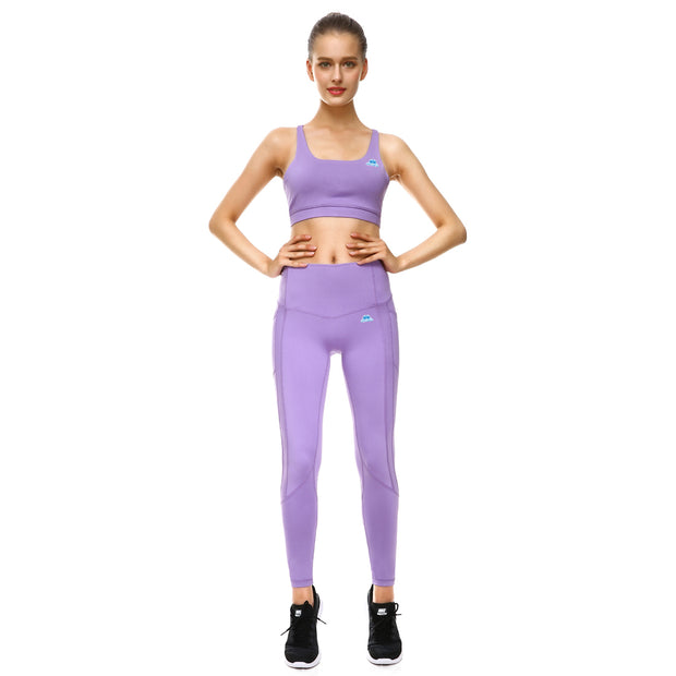 Lavender PerformX Sports Set - Lotus Leggings