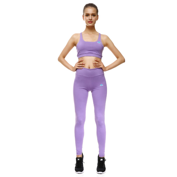 Lavender Bow Sports Set - Lotus Leggings
