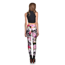 Pink Blossom Skulls Leggings - Lotus Leggings