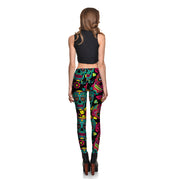Teal Sugar Skulls Leggings - Lotus Leggings