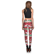 Red Ugly Xmas Sweater Leggings - Lotus Leggings
