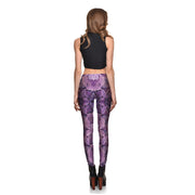 Purple Leaves Leggings - Lotus Leggings