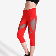 Rosy Red MaxFit Capri - Lotus Leggings