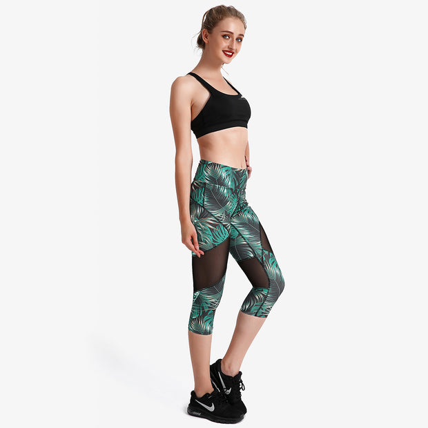 Jungle Fever Capri Mesh Leggings - Lotus Leggings