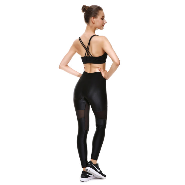Total Blackout Mesh Leggings - Lotus Leggings