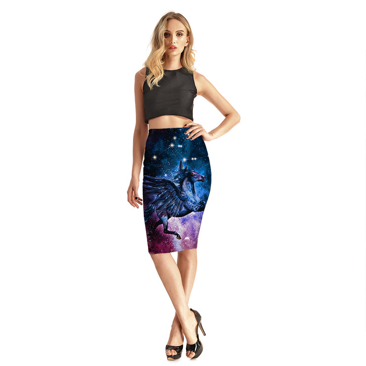Galaxy Pegasus Pencil Skirt