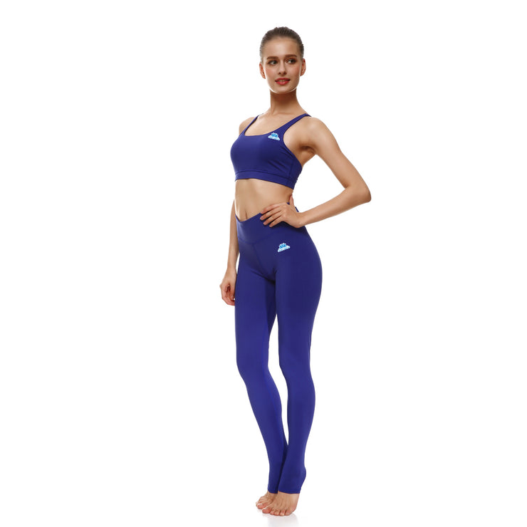 Bold Blue Bow Sports Set - Lotus Leggings