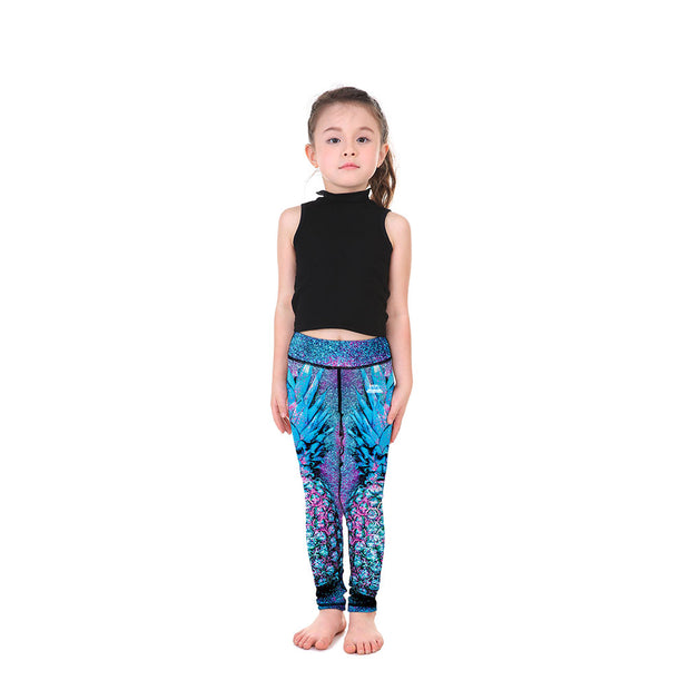 Kid's LotusX™ Sparkle Pineapple Leggings - Lotus Leggings