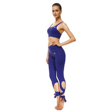 Bold Blue Tie-Up Sports Set - Lotus Leggings
