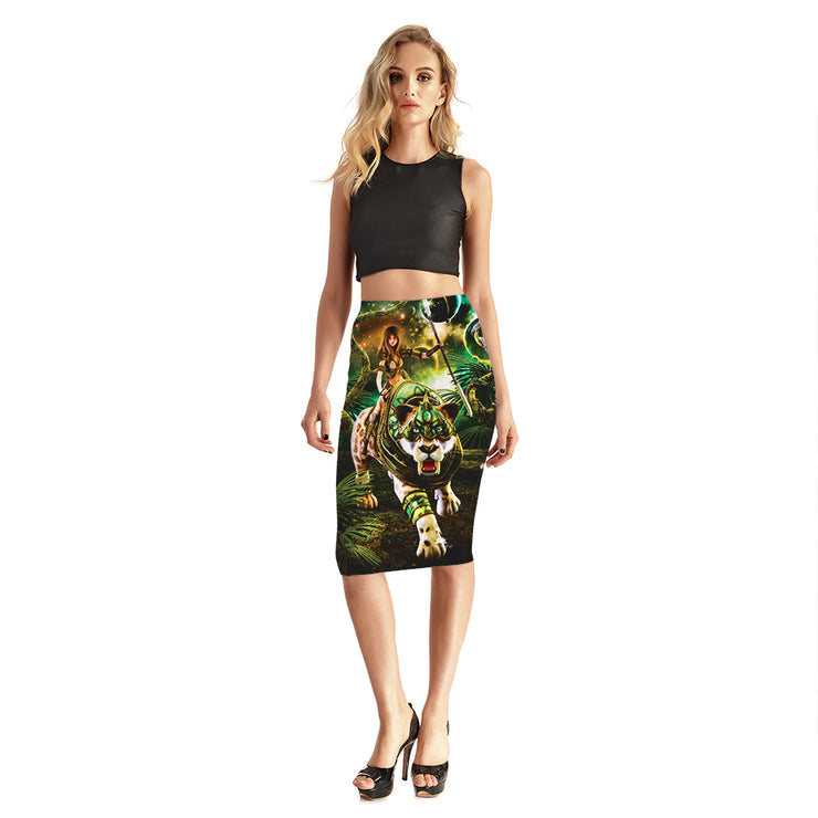 Lion Princess Pencil Skirt
