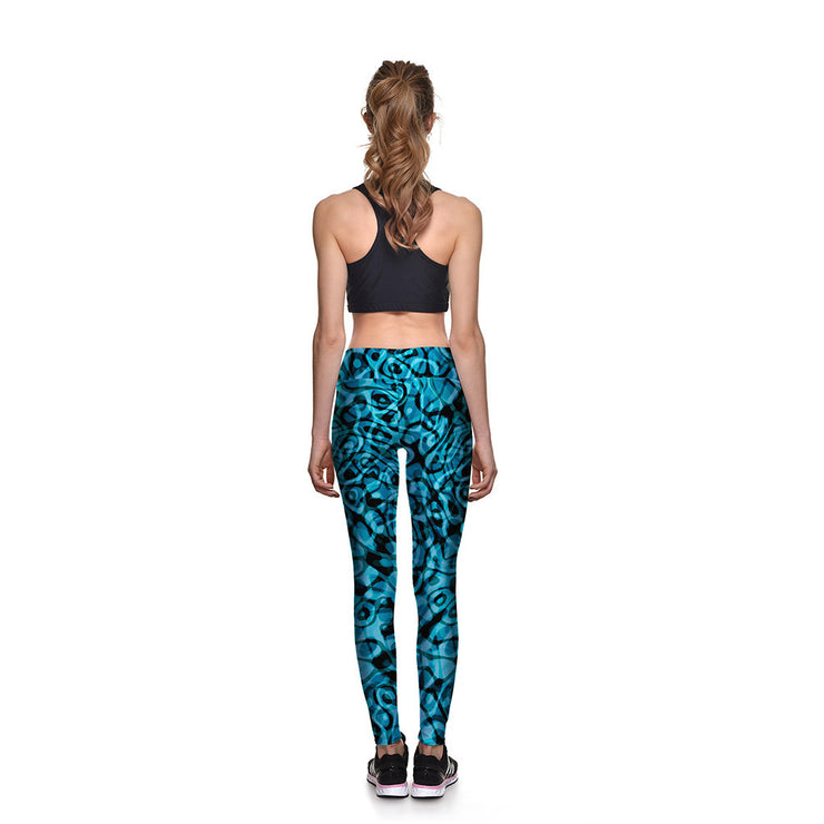 Blue Passion Athletic Leggings - Lotus Leggings