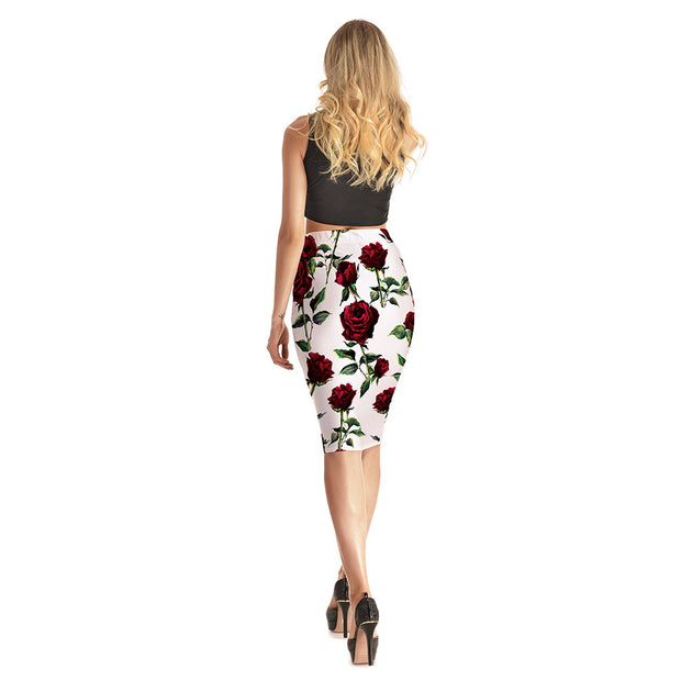 Pretty Rose Long Skirt - Lotus Leggings