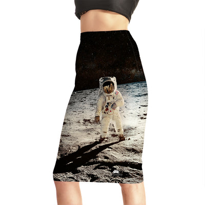 Astronaut Landing Pencil Skirt