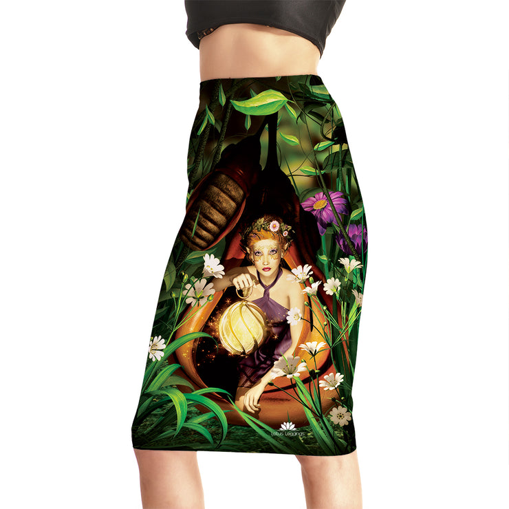Mystical Forest Fairy Pencil Skirt