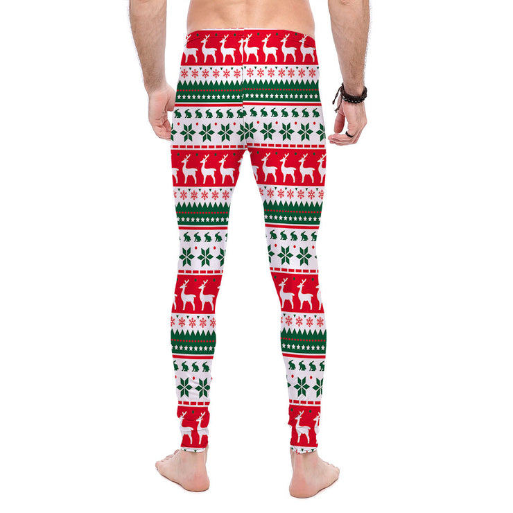 White Ugly Xmas Sweater Leggings