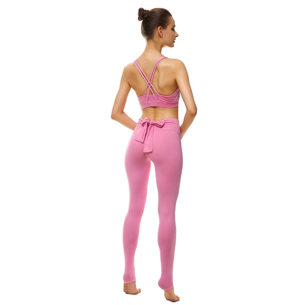 Pretty in Pink Bow Leggings - Lotus Leggings