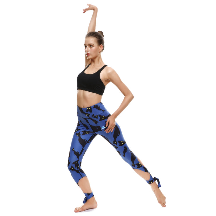 Curious Cat Tie-Up Leggings - Lotus Leggings