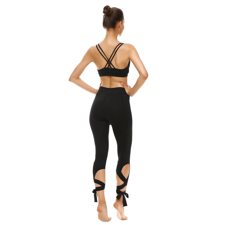 Blackout Tie-Up Leggings - Lotus Leggings
