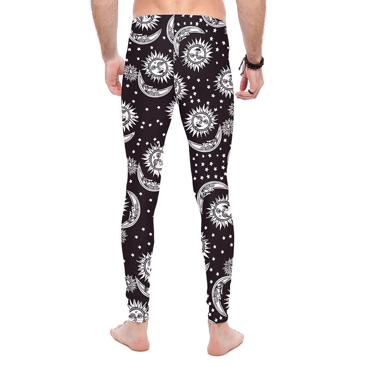 SILVER SUN AND MOON LEGGINGS