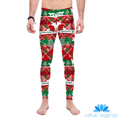 Red Ugly Xmas Sweater Leggings