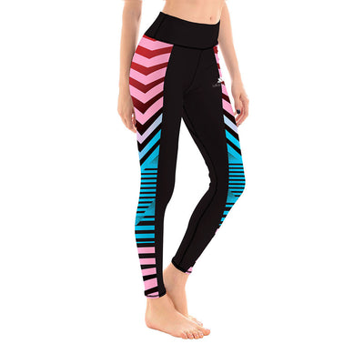 LotusX™ Pink and Blue Racer Leggings