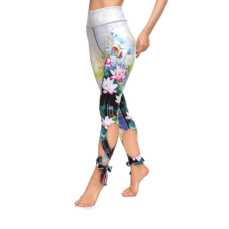 Spring Tie-Up Leggings - Lotus Leggings